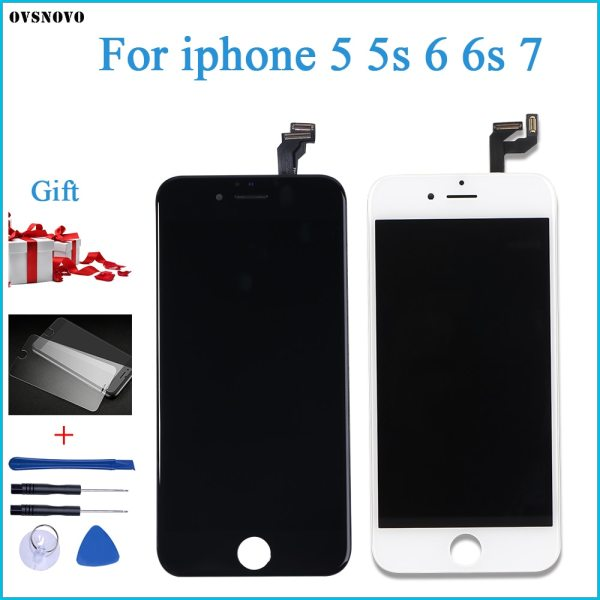 Ovsnovo AAA Quality For iPhone 5 5s 6 6s 7 LCD Display Touch Screen Assembly 100 Ovsnovo AAA+++ Quality For iPhone 5 5s 6 6s 7 LCD Display Touch Screen Assembly 100% Brand New tempered glass+Tools