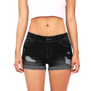 Pants Jeans De Mujer Black Skinny Jeans Dames Jeans Broeken Low Waisted Washed Ripped Hole Short Innrech Market.com
