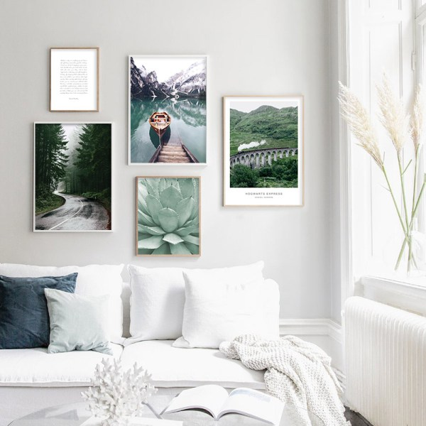 Scandinavian Boat Lake Canvas Poster Nature Nordic Style Landscape Wall Art Print Painting Decorative Picture Living 1 Scandinavian Boat Lake Canvas Poster Nature Nordic Style Landscape Wall Art Print Painting Decorative Picture Living Room Decor