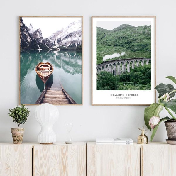 Scandinavian Boat Lake Canvas Poster Nature Nordic Style Landscape Wall Art Print Painting Decorative Picture Living 2 Scandinavian Boat Lake Canvas Poster Nature Nordic Style Landscape Wall Art Print Painting Decorative Picture Living Room Decor