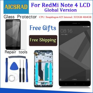 Tested LCD Display Frame For Xiaomi Redmi Note 4 Global Version Snapdragon 625 Touch Screen LCD Innrech Market.com