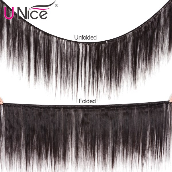 UNice Hair Transparent Lace With Closure 8 30 Malaysian Straight Hair 3 Bundles with Closure Remy 1 UNice Hair Transparent Lace With Closure 8-30 Malaysian Straight Hair 3 Bundles with Closure Remy Human Hair Extension Bundles