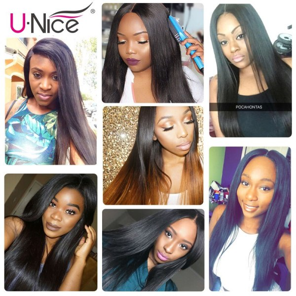 UNice Hair Transparent Lace With Closure 8 30 Malaysian Straight Hair 3 Bundles with Closure Remy 5 UNice Hair Transparent Lace With Closure 8-30 Malaysian Straight Hair 3 Bundles with Closure Remy Human Hair Extension Bundles