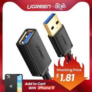 Ugreen USB Extension Cable USB 3 0 Cable for Smart TV PS4 Xbox One SSD USB3 Innrech Market.com