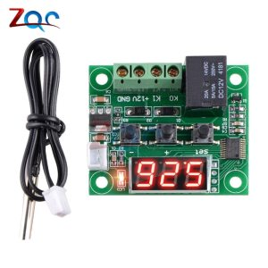 W1209 LED Digital Thermostat Temperature Control Thermometer Thermo Controller Switch Module DC 12V Waterproof NTC Sensor Innrech Market.com