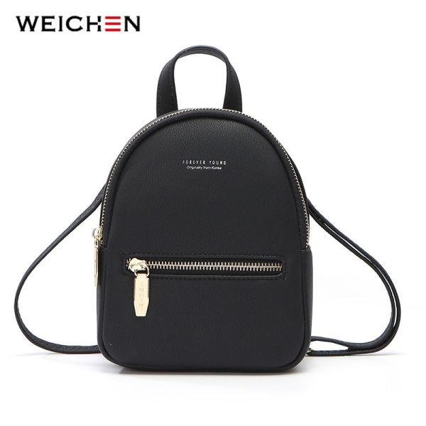 WEICHEN New Designer Fashion Women Backpack Mini Soft Touch Multi Function Small Backpack Female Ladies Shoulder WEICHEN New Designer Fashion Women Backpack Mini Soft Touch Multi-Function Small Backpack Female Ladies Shoulder Bag Girl Purse