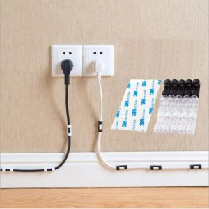 Wire Cable Clips Organizer Desktop Workstation Clips Cord Management Holder USB Charging Data Line Cable Winder Innrech Market.com