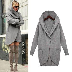 Women Hooded Coats Jackets 2019 Plus Size Female Long Sleeve Long Jackets Ladies Winter Casual Outerwear Innrech Market.com