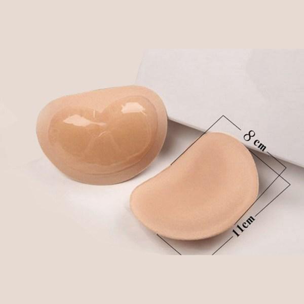 1Pair 2019 Bikini Invisible Heart Padding Magic Bra Insert Pads Push Up Silicone Bra Adhesive Breast 2 Bikini Invisible Heart Padding Magic Bra Insert Pads Push Up Silicone Bra Adhesive Breast Enhancer For Women Swimsuit 1Pair
