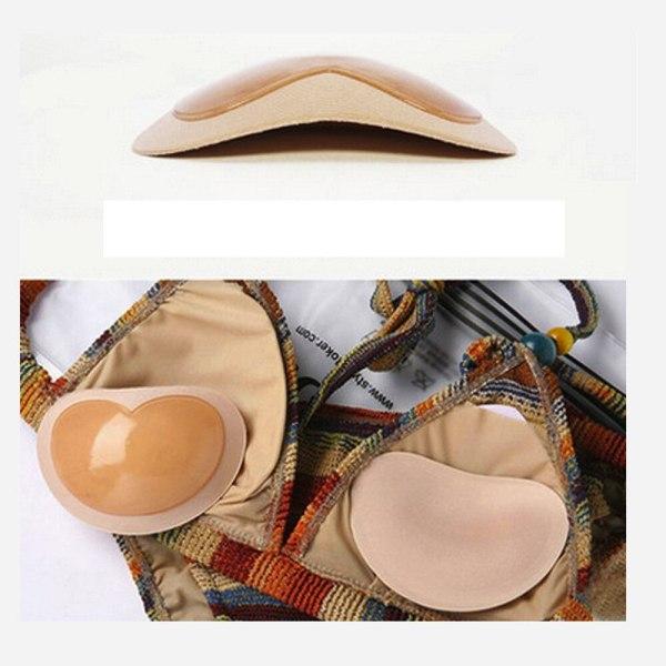1Pair 2019 Bikini Invisible Heart Padding Magic Bra Insert Pads Push Up Silicone Bra Adhesive Breast 3 Bikini Invisible Heart Padding Magic Bra Insert Pads Push Up Silicone Bra Adhesive Breast Enhancer For Women Swimsuit 1Pair