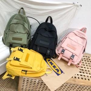 2019 Backpack Women Backpack Fashion Women Shoulder Bag solid color School Bag For Teenage Girl Children Innrech Market.com