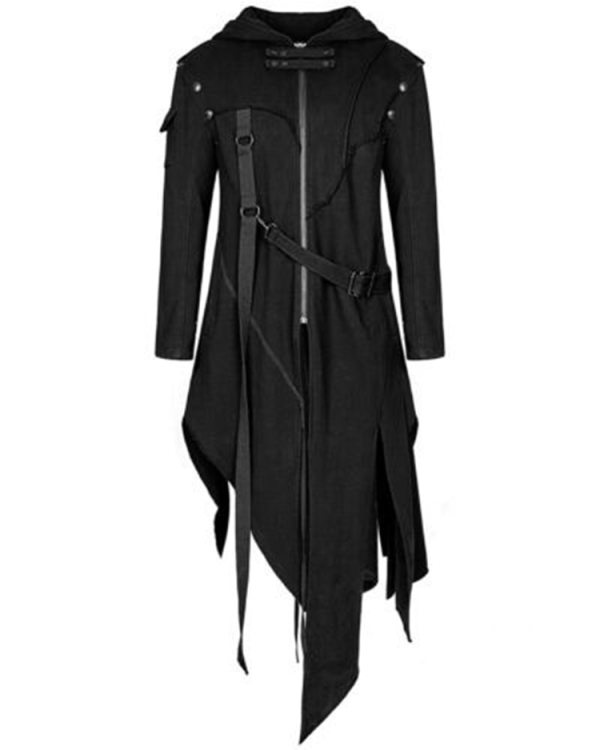 2019 Men Long Sleeve Steampunk Victorian Jacket Gothic Belt Swallow Tail Coat Cosplay Costume Vintage Halloween 2019 Men Long Sleeve Steampunk Victorian Jacket Gothic Belt Swallow-Tail Coat Cosplay Costume Vintage Halloween Long Uniform