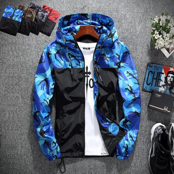 2019 Men s wear casual camouflage jacket of Slim handsome spring autumn casual solid color large 2019 Men's wear casual camouflage jacket. of Slim handsome spring autumn casual solid color large size baseball clothes
