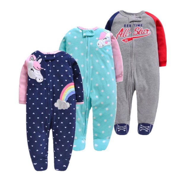 2019 unicornio baby girl clothes soft fleece kids one pieces romper pijama new born infant girl 2019 unicornio baby girl clothes , soft fleece kids one pieces romper pijama new born infant girl boys clothes baby clothing