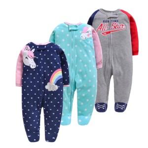 2019 unicornio baby girl clothes soft fleece kids one pieces romper pijama new born infant girl Innrech Market.com