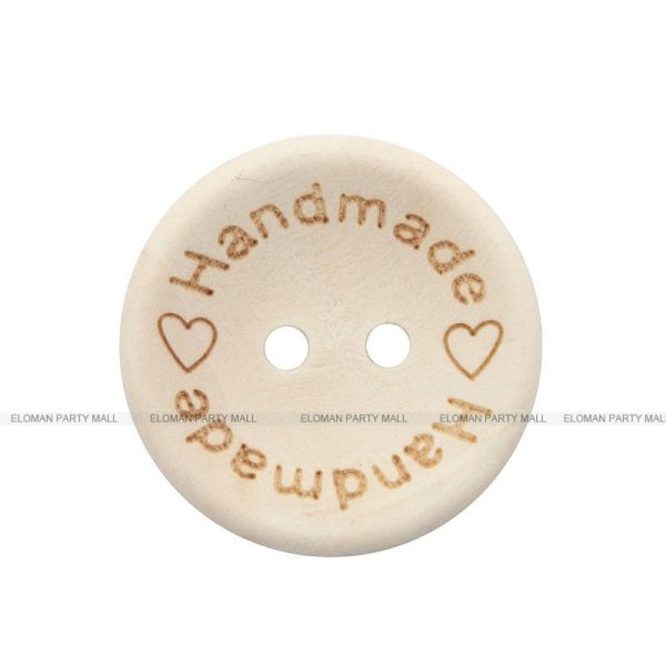 ELOMAN 50PCS lot Natural Color Wooden Buttons handmade love Letter wood button craft DIY baby apparel 1 ELOMAN 50PCS/lot Natural Color Wooden Buttons handmade love Letter wood button craft DIY baby apparel accessories