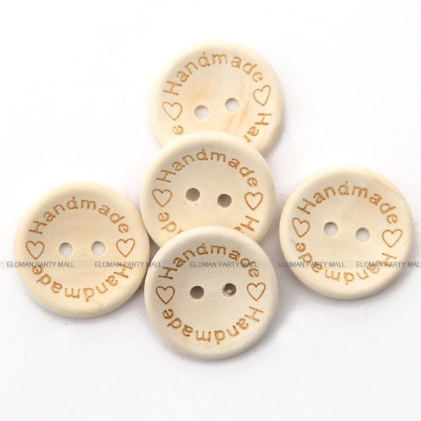 ELOMAN 50PCS lot Natural Color Wooden Buttons handmade love Letter wood button craft DIY baby apparel 4 ELOMAN 50PCS/lot Natural Color Wooden Buttons handmade love Letter wood button craft DIY baby apparel accessories