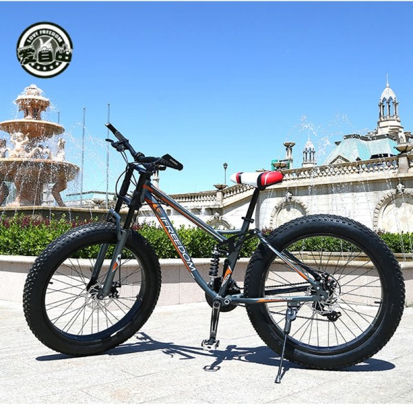 Love Freedom High Quality Bicycle 21 24 Speed Mountain Bike 26 Inch 4 0 Fat Tire 1 Love Freedom High Quality Bicycle 21/24 Speed Mountain Bike 26 Inch 4.0 Fat Tire Snow Bike Double disc Shock Absorbing Bicycle