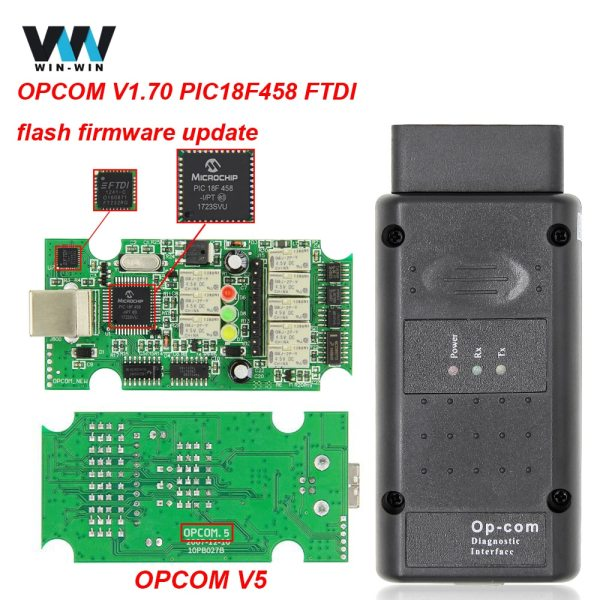 OPCOM V5 For Opel OP COM 1 70 flash firmware update OP COM 1 95 PIC18F458 OPCOM V5 For Opel OP COM 1.70 flash firmware update OP-COM 1.95 PIC18F458 FIDI CAN BUS OBD OBD2 Scanner Car Diagnostic Auto Tool