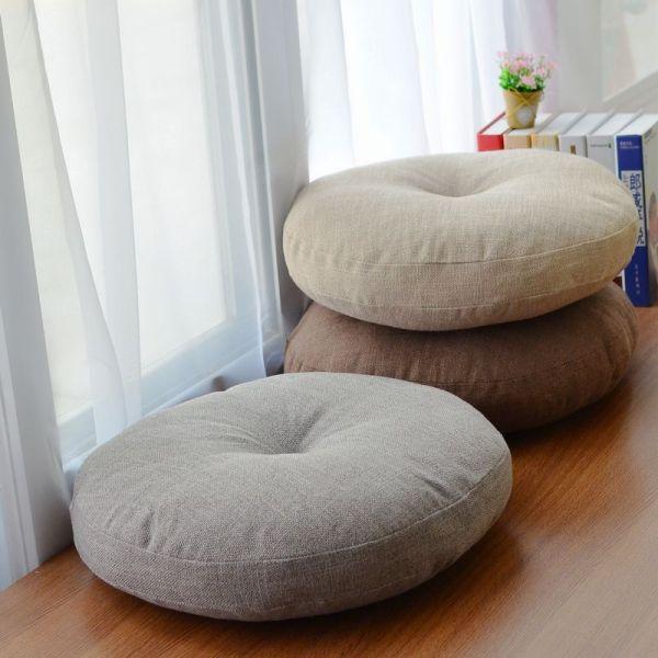 Round Shape 2 Size Cotton Linen Seat Cushion Silk Cotton Core Tatami Cushion Pillow Home Decoration Round Shape 2 Size Cotton Linen Seat Cushion Silk Cotton Core Tatami Cushion Pillow Home Decoration Soft Car Sofa Cushion