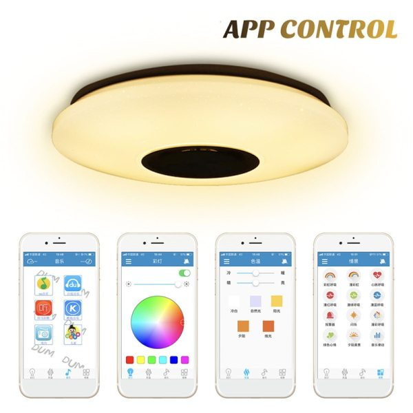 Smuxi 60W 102LED bluetooth LED Music Ceiling Lights Starry APP Remote Control Dimming RGB bluetooth LED 1 Smuxi 60W 102LED bluetooth LED Music Ceiling Lights Starry APP/Remote Control Dimming RGB bluetooth LED Lamp AC180-240V Fixtures