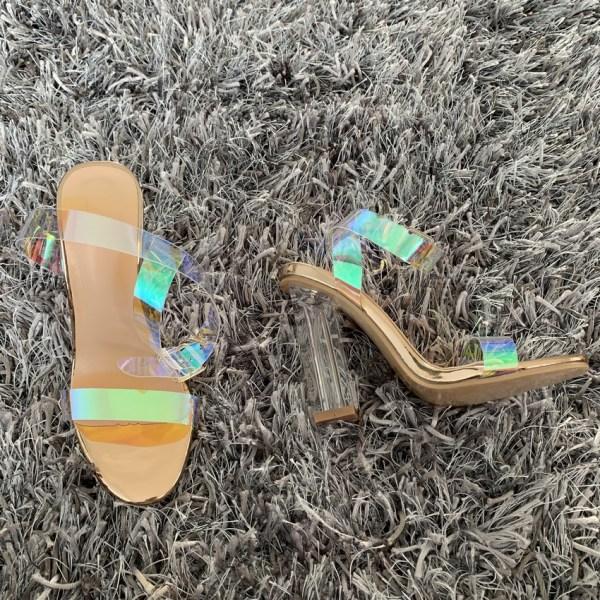 2019 Fashion PVC Women Sandals Summer Open Toed High Heels Women Transparent Heel Sandals Woman Party 4 Fashion PVC Women Sandals Summer Open Toed High Heels Women Transparent Heel Sandals Woman Party Shoes Discount Pumps 11CM