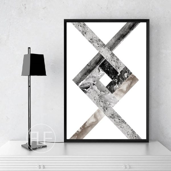 Abstract Geometric Canvas Painting Black and White Nordic Posters and Prints Wall Art Picture for Living 1 Abstract Geometric Canvas Painting Black and White Nordic Posters and Prints Wall Art Picture for Living Room Decor No Frame