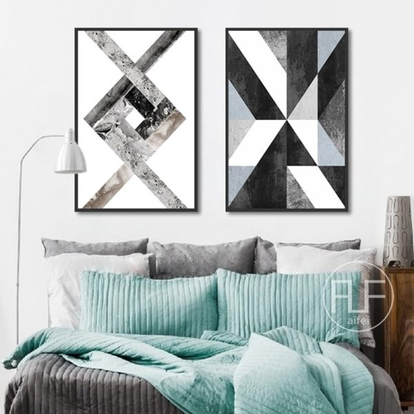 Abstract Geometric Canvas Painting Black and White Nordic Posters and Prints Wall Art Picture for Living 3 Abstract Geometric Canvas Painting Black and White Nordic Posters and Prints Wall Art Picture for Living Room Decor No Frame