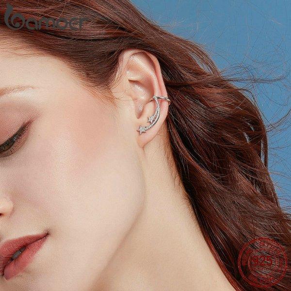 BAMOER Star Comet Asymmetry Stud Earrings for Women Clear CZ Bright Meteor Ear Stud 925 Sterling 3 BAMOER Star Comet Asymmetry Stud Earrings for Women Clear CZ Bright Meteor Ear Stud 925 Sterling Silver Jewelry Femme BSE087