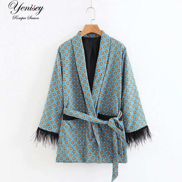 Fashion jacket women loose kimono coat bow tie sashes pockets tassel decorate outerwear oversized ladies autumn Fashion jacket women loose kimono coat bow tie sashes pockets tassel decorate outerwear oversized ladies autumn