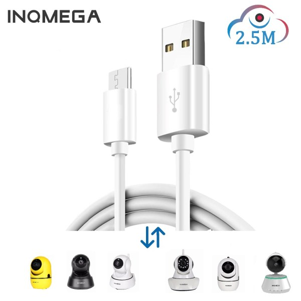 INQMEGA 2 5M Length Power Cord For Amazon Cloud Storage Wifi Cam Home Security surveillance IP INQMEGA 2.5M Length Power Cord For Amazon Cloud Storage Wifi Cam Home Security surveillance IP Camera For APP-YCC365