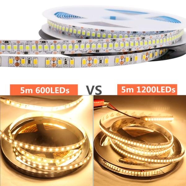 LED Strip 2835 SMD 240LEDs m 5M 300 600 1200 Leds DC12V High Bright Flexible LED 3 LED Strip 2835 SMD 240LEDs/m 5M 300/600/1200 Leds DC12V High Bright Flexible LED Rope Ribbon Tape Light Warm White / Cold White