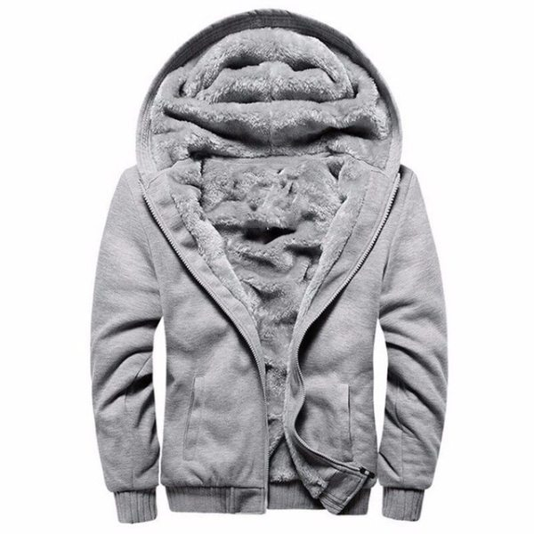 Men Hooded Jacket 2019 Warm Causal Fleece Hooded Outerwear Coats Male Autumn Winter Solid Thick Zipper 5 Men Hooded Jacket 2019 Warm Causal Fleece Hooded Outerwear Coats Male Autumn Winter Solid Thick Zipper Jackets Casacos Masculino