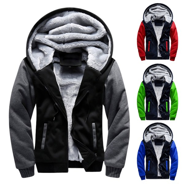 Men Hooded Jacket 2019 Warm Causal Fleece Hooded Outerwear Coats Male Autumn Winter Solid Thick Zipper Men Hooded Jacket 2019 Warm Causal Fleece Hooded Outerwear Coats Male Autumn Winter Solid Thick Zipper Jackets Casacos Masculino
