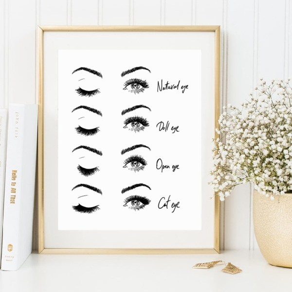 Modern Fashion Eyelash Extensions Prints Makeup Wall Art Canvas Painting Picture Nordic Poster Beauty Salon Decor 2 Modern Fashion Eyelash Extensions Prints Makeup Wall Art Canvas Painting Picture Nordic Poster Beauty Salon Decor Girls Gift