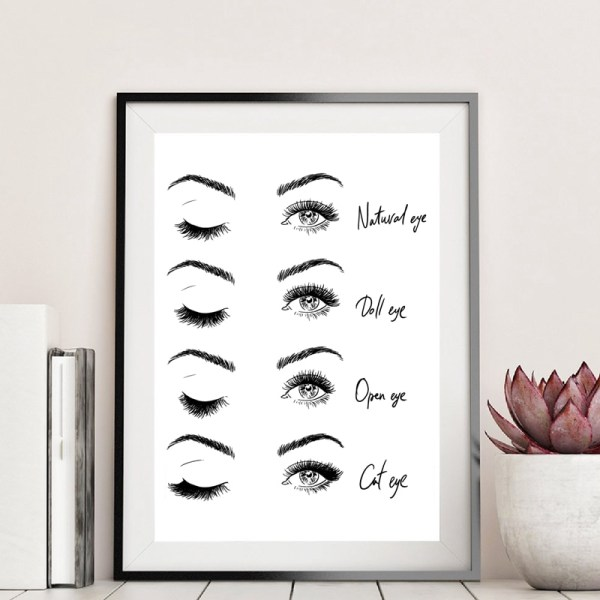 Modern Fashion Eyelash Extensions Prints Makeup Wall Art Canvas Painting Picture Nordic Poster Beauty Salon Decor Modern Fashion Eyelash Extensions Prints Makeup Wall Art Canvas Painting Picture Nordic Poster Beauty Salon Decor Girls Gift
