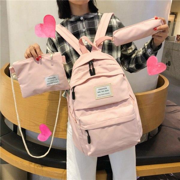 Nylon Backpack Women Backpack Solid Color Travel Bag Large Shoulder Bag For Teenage Girl Student School 1 Nylon Backpack Women Backpack Solid Color Travel Bag Large Shoulder Bag For Teenage Girl Student School Bag Bagpack Rucksack