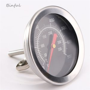 Stainless steel BBQ Accessories Grill Meat Thermometer Dial Temperature Gauge Gage Cooking Food Probe Household Kitchen Innrech Market.com