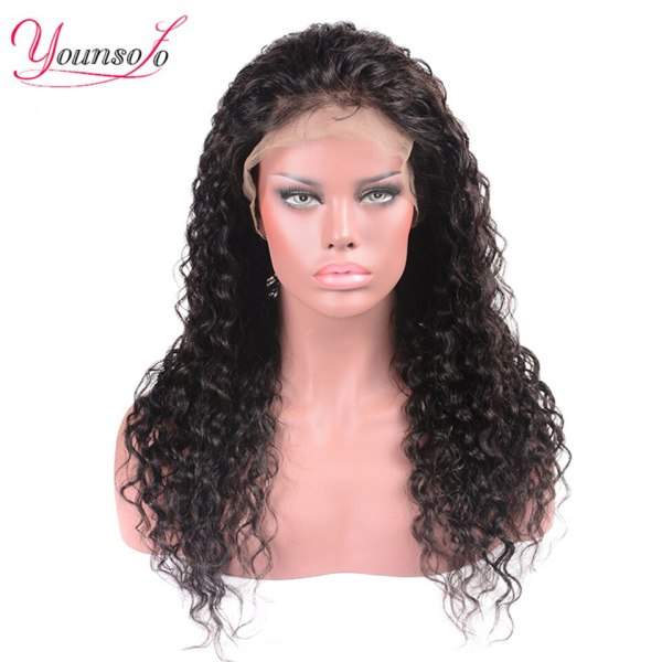 Younsolo 13x4 Lace Front Human Hair Wigs For Black Women Remy Brazilian Water Wave Lace Front 1 Younsolo 13x4 Lace Front Human Hair Wigs For Black Women Remy Brazilian Water Wave Lace Front Wig Pre Plucked With Baby Hair