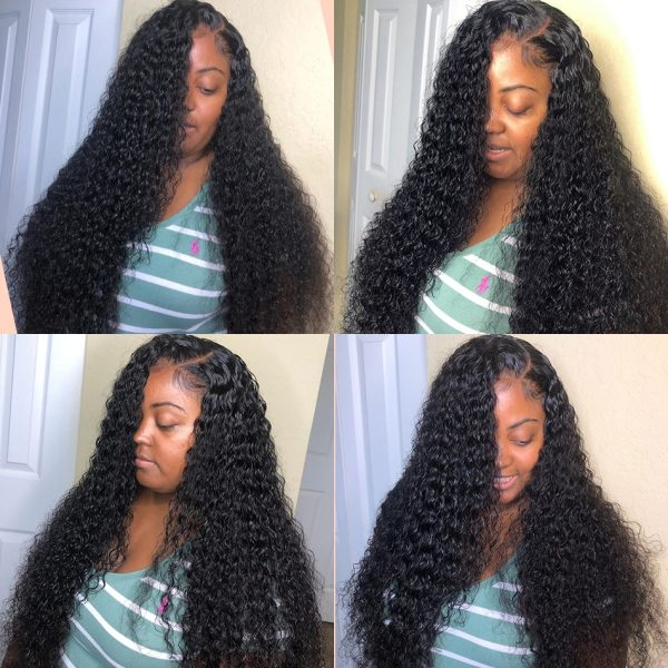 8 28 30 Inch Deep Wave Bundles With Closure Brazilian Remy Curly 100 Human Hair Water 2 8-28 30 Inch Deep Wave Bundles With Closure Brazilian Remy Curly 100% Human Hair Water Wave 3 4 Bundles Weave And Lace Closure