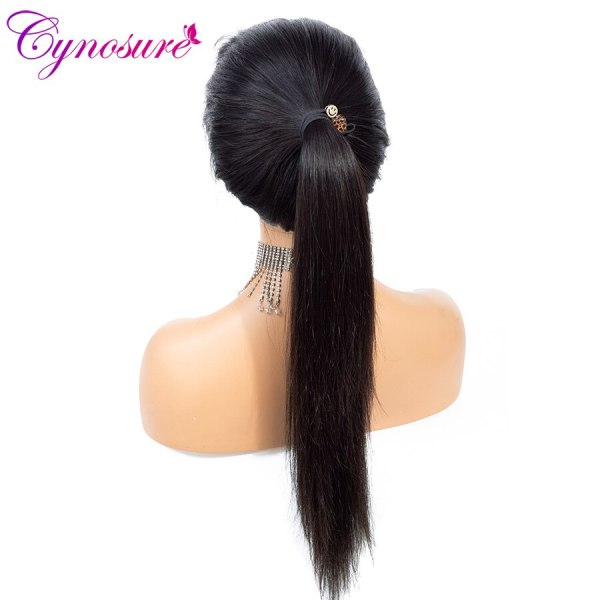 Cynosure 4x4 Straight Lace Closure Wig Brazilian Lace Closure Human Hair Wigs Pre Plucked with Baby 2 Cynosure 4x4 Straight Lace Closure Wig Brazilian Lace Closure Human Hair Wigs Pre-Plucked with Baby Hair Remy