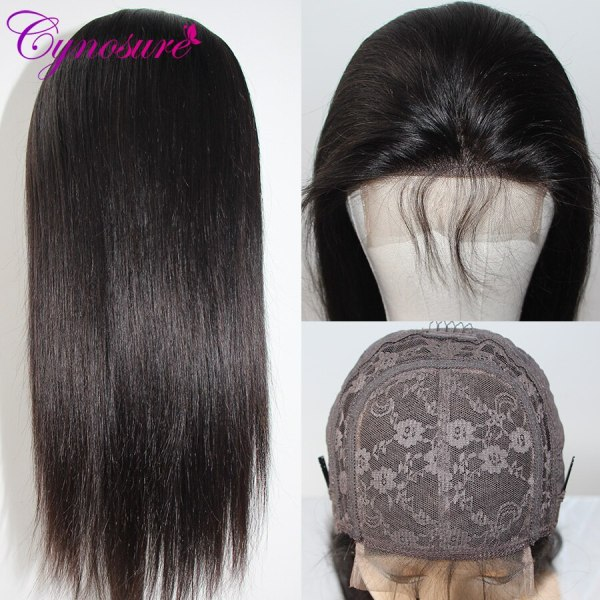 Cynosure 4x4 Straight Lace Closure Wig Brazilian Lace Closure Human Hair Wigs Pre Plucked with Baby 3 Cynosure 4x4 Straight Lace Closure Wig Brazilian Lace Closure Human Hair Wigs Pre-Plucked with Baby Hair Remy