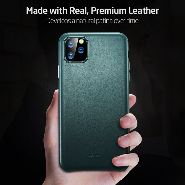ESR Case for iPhone 11 Pro Max Leather Case Cover Brand Black Green Genuine Leather Protective 1 ESR Case for iPhone 11 Pro Max Leather Case Cover Brand Black Green Genuine Leather Protective Cover for iPhone 11 2019 11pro