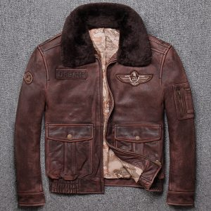 Free shipping Brand new winter warm Classic G1 style mens leather jacket vintage cowhide Jackets man Innrech Market.com