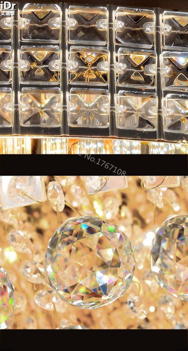 Golden Circular living room lamp crystal lamp S King Cake bedroom living room lights LED lights 1 Himalayan Salt Lamp | Crystal Light | Golden Circular living room lamp crystal lamp S King Cake bedroom living room lights LED lights Ceiling Lights Voltage 110V-240V