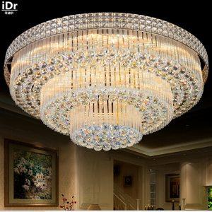 Golden Circular living room lamp crystal lamp S King Cake bedroom living room lights LED lights Innrech Market.com