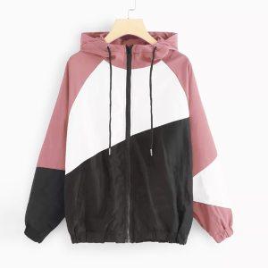 JAYCOSIN Jacket Women 2019 Long Sleeve Patchwork Thin Skinsuits Windbreaker Hooded Women s Jackets Coats chaquetas Innrech Market.com