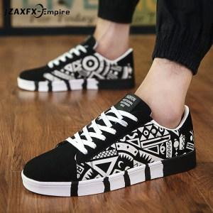 Men Casual Canvas Shoes Fashion Print Sneakers Summer Trainers Leisure Shoes Men s Flats Slip Shoes Innrech Market.com