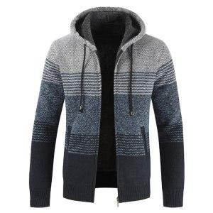 NEGIZBER 2019 Winter Mens Coats and Jackets Casual Patchwork Hooded Zipper Coats Men Fashion Thick Wool Innrech Market.com