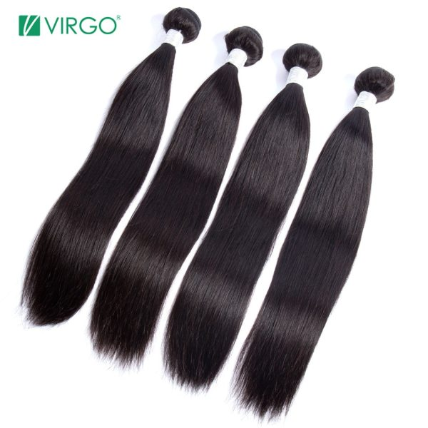 Peruvian Straight Hair Bundle with closure 3 bundle human hair weave Virgo Hair lace frontal closure 2 Peruvian Straight Hair Bundle with closure 3 bundle human hair weave Virgo Hair lace frontal closure with bundles 4 pcs remy